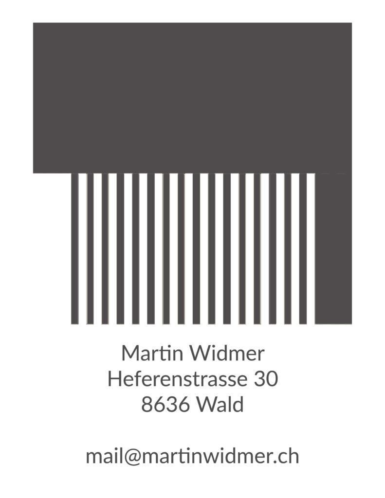 visitenkarte mit kontaktdaten von martin widmer